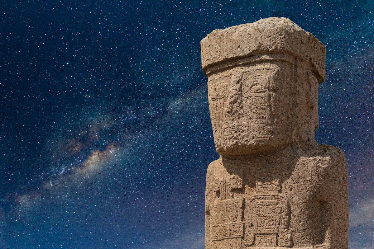 BOLIVIEN_Statue_in_Tihuanaco